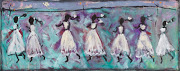 John Maitland Seven Girls running